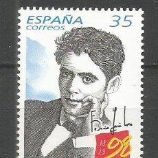 Sellos: ESPAÑA FEDERICO GARCIA LORCA EDIFIL NUM. 3549 ** SERIE COMPLETA SIN FIJASELLOS. Lote 213954055