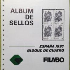 Sellos: ESPAÑA SPAIN AÑO 1997 COMPLETO EN BLOQUE DE 4. Lote 144501242