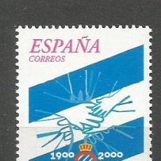 Sellos: ESPAÑA R.C.D. ESPAÑOL DE BARCELONA EDIFIL NUM. 3705 ** SERIE COMPLETA SIN FIJASELLOS. Lote 194656945