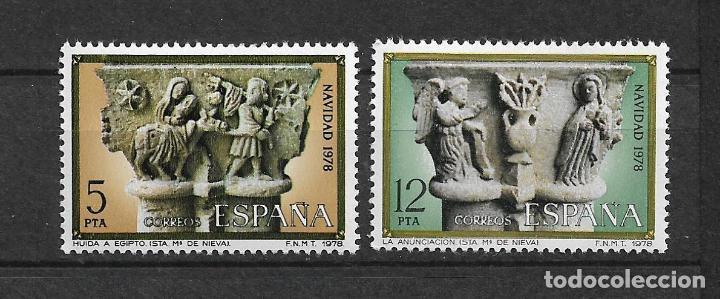 ESPAÑA 1978 EDIFIL 2491/2492 ** MNH - 12/31 (Sellos - España - Juan Carlos I - Desde 1.975 a 1.985 - Nuevos)