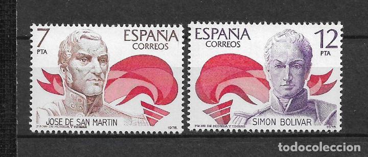 ESPAÑA 1978 EDIFIL 2489/2490 ** MNH - 12/31 (Sellos - España - Juan Carlos I - Desde 1.975 a 1.985 - Nuevos)