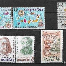 Sellos: ESPAÑA 1981 LOTE SERIES COMPLETAS ** MNH - 12/35. Lote 144544478