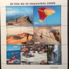 Sellos: ESPAÑA SPAIN MINIPLIEGO EDIFIL 4224 AÑO 2006 NUEVO MNH DEPORTES. Lote 182446940