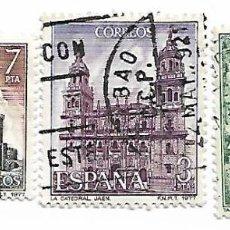 Sellos: SELLO DE ESPAÑA. USADO. 1977. ESPAÑA. EDIFIL 2417/22. PAISAJES Y MONUMENTOS. 3 SELLOS SUELTOS.. Lote 144732898