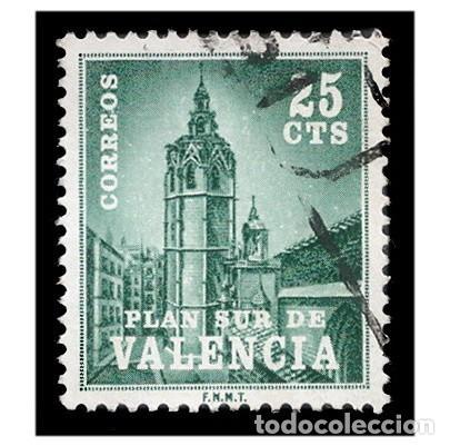 ESPAÑA 1966. EDIFIL VAL 4. PLAN SUR DE VALENCIA. EL MIGUELETE. USADO (Sellos - España - Juan Carlos I - Desde 1.975 a 1.985 - Usados)