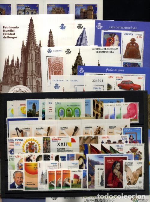 SPAIN 2012 - ESPAÑA SPAIN AÑO COMPLETO YEAR COMPLETE 2012 MNH (Sellos - España - Juan Carlos I - Desde 2.000 - Nuevos)