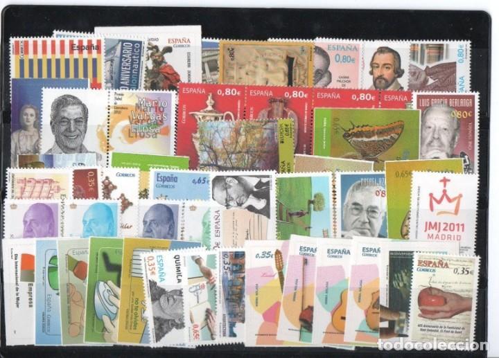 SPAIN 2011 - ESPAÑA SPAIN AÑO COMPLETO YEAR COMPLETE 2011 MNH (Sellos - España - Juan Carlos I - Desde 2.000 - Nuevos)