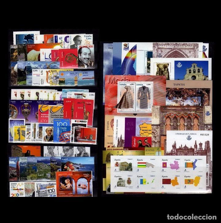 SPAIN 2010 - ESPAÑA SPAIN AÑO COMPLETO YEAR COMPLETE 2010 MNH (Sellos - España - Juan Carlos I - Desde 2.000 - Nuevos)