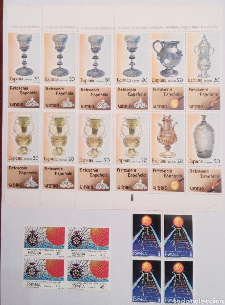 Sellos: SELLOS DE ESPAÑA AÑO 1988 en bloque de 4 - Foto 2 - 145292810