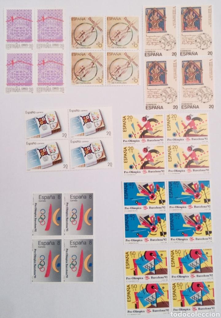 Sellos: SELLOS DE ESPAÑA AÑO 1988 en bloque de 4 - Foto 3 - 145292810