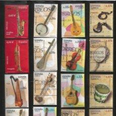 Sellos: ESPAÑA 2010 A 2013 - INSTRUMENTOS MUSICALES (4 SERIES) - MUSICA. Lote 145419482