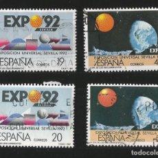 Sellos: ESPAÑA 1987 - EXPO 92 - SERIE COMPLETA 4 VALORES. Lote 145535298