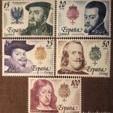 Sellos: ESPAÑA. 1979, REYES DE ESPAÑA DE LA CASA DE AUSTRIA. 5 VALORES (Nº 2552-2556 EDIFIL).. Lote 145734566