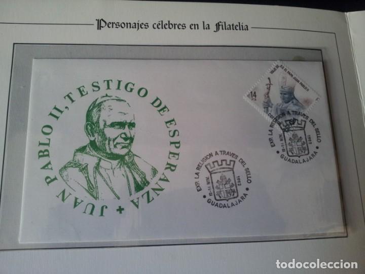 Sellos: PERSONAJES CELEBRES EN LA FILATELIA - VIAJE DE S.S. EL PAPA JUAN PABLO II - SIN USAR - Foto 3 - 145818926