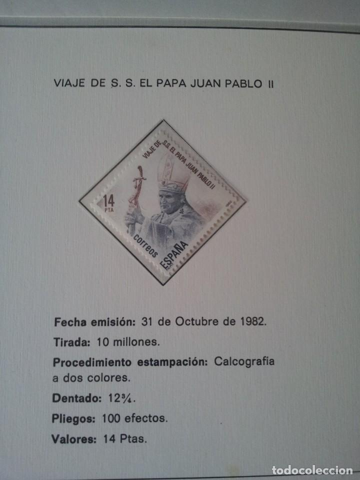 Sellos: PERSONAJES CELEBRES EN LA FILATELIA - VIAJE DE S.S. EL PAPA JUAN PABLO II - SIN USAR - Foto 4 - 145818926