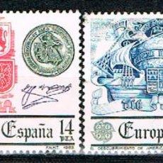 Sellos: EDIFIL 2657/8, EUROPA 1982, EL DESCUBRIMIENTO DE AMERICA Y LA UNIDAD DE ESPAÑA, USADO SERIE COMPLETA. Lote 278940798