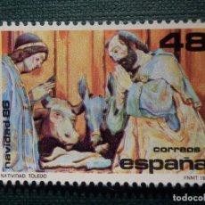 Sellos: SELLO ESPAÑA - NAVIDAD - LA NATIVIDAD FELIPE BIGAMY - EDIFIL 2868 - AÑO 1986 - 48 PESETAS -. Lote 173665684