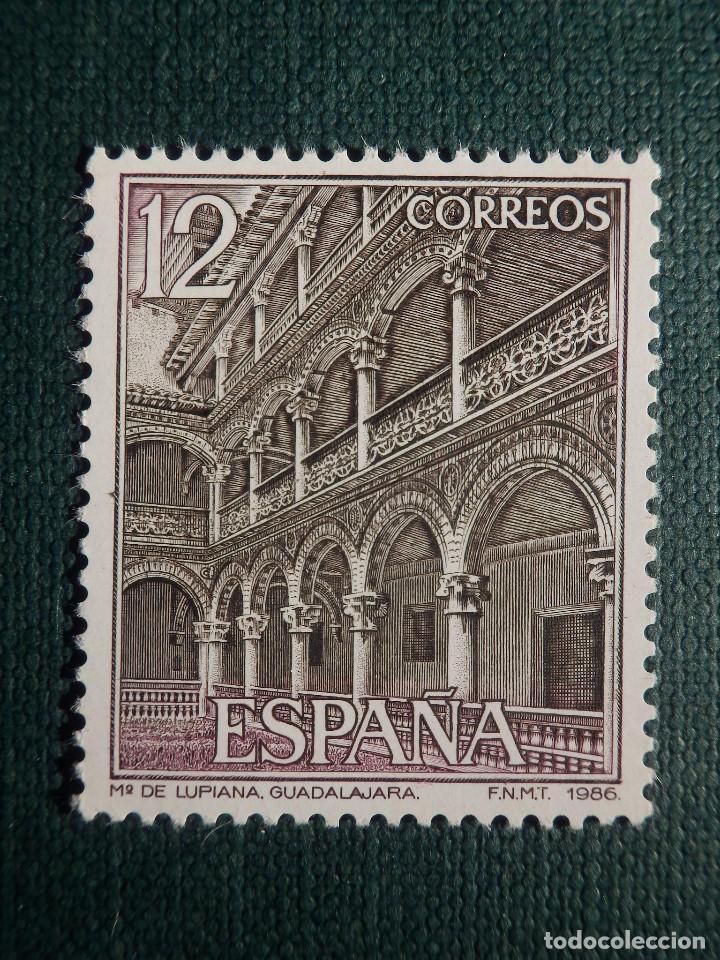 SELLO - MONASTERIO DE LUPIANA - GUADALAJARA - EDIFIL 2835 - AÑO 1986 - 12 PESETAS (Sellos - España - Juan Carlos I - Desde 1.986 a 1.999 - Nuevos)