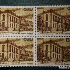 Sellos: SELLO - DÍA DE LAS FUERZAS ARMADAS - EDIFIL 2849 - AÑO 1986 - BLOQUE DE 4. Lote 245122700