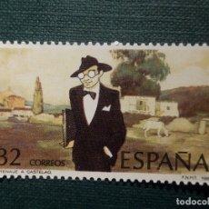 Sellos: SELLO - CENTENARIO ALFONSO RODRIGUEZ CASTELAO - EDIFIL 2873 - AÑO 1986 - 32 PESETAS. Lote 152844636
