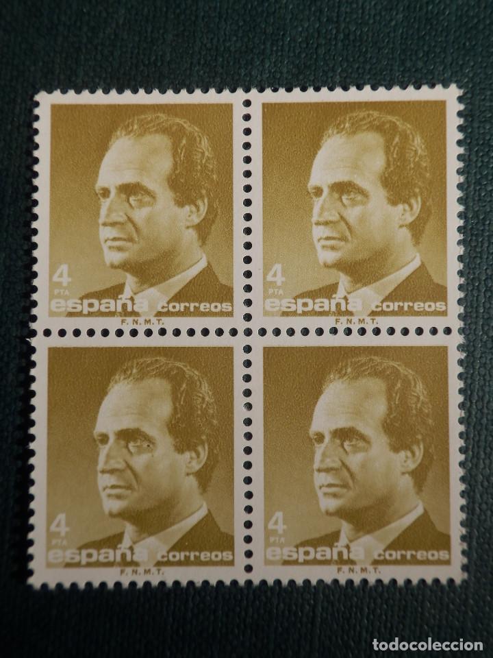 SELLO - JUAN CARLOS I - EDIFIL 2831 - AÑO 1986 - 4 PESETAS - BLOQUE DE 4 (Sellos - España - Juan Carlos I - Desde 1.986 a 1.999 - Nuevos)