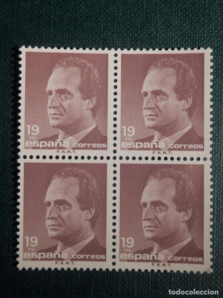SELLO - JUAN CARLOS I - EDIFIL 2834 - AÑO 1986 - 19 PESETAS - BLOQUE DE 4 (Sellos - España - Juan Carlos I - Desde 1.986 a 1.999 - Nuevos)