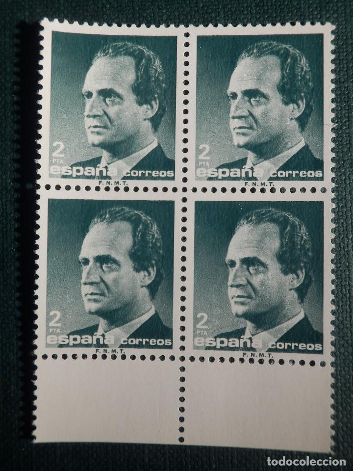SELLO - JUAN CARLOS I - EDIFIL 2829 - AÑO 1986 - 2 PESETAS - BLOQUE DE 4 (Sellos - España - Juan Carlos I - Desde 1.986 a 1.999 - Nuevos)