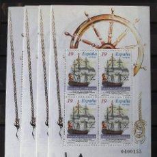 Sellos: EDIFIL 3352-53, 4 HB U HOJITAS DE CADA UNA, MISMOS NÚMEROS, NUEVAS, SIN CH. BARCOS.. Lote 146718998