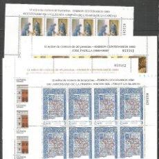 Sellos: ESPAÑA CENTENARIOS EDIFIL NUM. 3069/3072 ** SERIE COMPLETA MINI PLIEGOS NUM. 13 , 14 , 15 Y 16. Lote 207058196