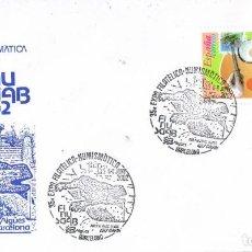 Sellos: 0673. CARTA EXPOSICION BARCELONA 2002. FINUSGAB, AGUAS DE BARCELONA. PARC GUELL. Lote 147195490