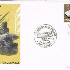 Sellos: 0674. CARTA F.D.C. BARCELONA 1981. HOMENAJE A LA PRENSA. Lote 147195802