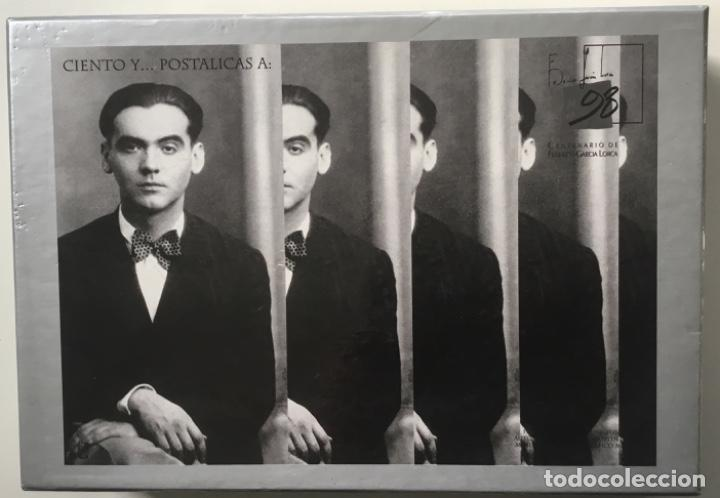 """1998-ESPAÑA CAJA """"CIENTOS DE POSTALICAS FEDERICO GARCÍA LORCA"""" - MÁS DE 250 POSTALES - (Sellos - España - Juan Carlos I - Desde 1.986 a 1.999 - Cartas)"""