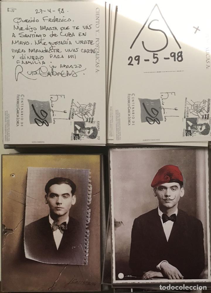 """Sellos: 1998-ESPAÑA Caja """"Cientos de postalicas Federico García Lorca"""" - más de 250 postales - - Foto 16 - 147482198"""