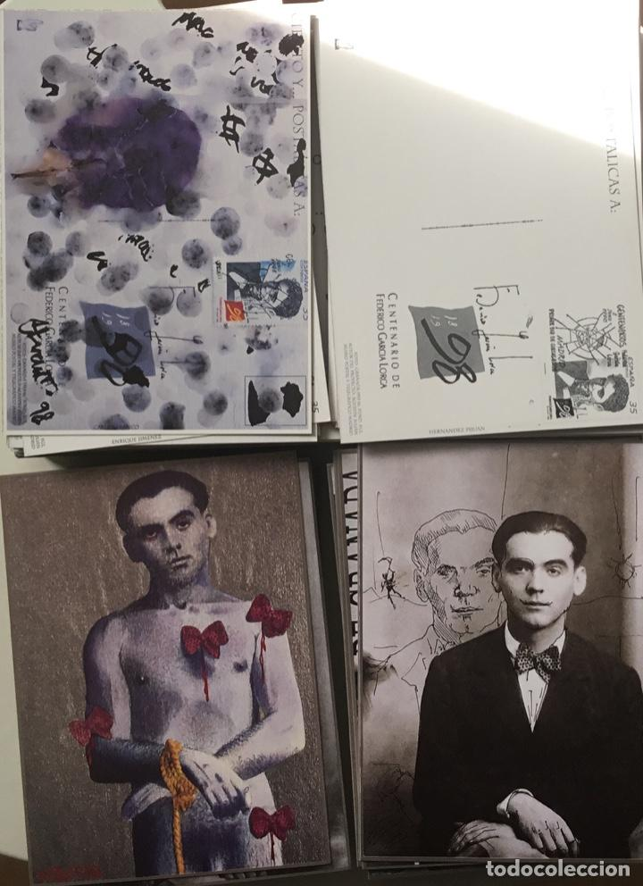 """Sellos: 1998-ESPAÑA Caja """"Cientos de postalicas Federico García Lorca"""" - más de 250 postales - - Foto 18 - 147482198"""