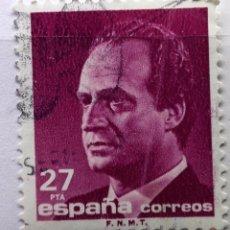 Sellos: ESPAÑA 1992, SELLO SERIE BÁSICA JUAN CARLOS I, 27 PTS USADO . Lote 147523402