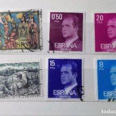Sellos: ESPAÑA 1977, 6 SELLOS USADOS DIFERENTES . Lote 147529894