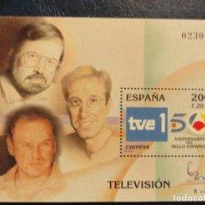 Sellos: SELLO HOJA BLOQUE. EXPOSICIÓN MUNDIAL DE FILATELIA ESPAÑA 2000. TELEVISIÓN. Lote 147535466