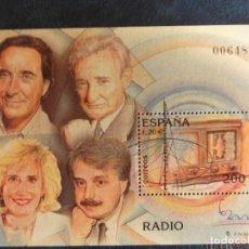 Sellos: SELLO HOJA BLOQUE. EXPOSICIÓN MUNDIAL DE FILATELIA ESPAÑA 2000. RADIO. Lote 147535602