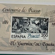 Sellos: 1981. HB EL GUERNICA EN ESPAÑA. CENT. PICASSO. Nº 2631. Lote 147539498