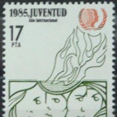 Sellos: ***AÑO INTERNACIONAL DE LA JUVENTUD*** - 1 SELLO (1 VALOR) - EDIFIL 2787 - AÑO 1985 - NUEVO-LUJO. Lote 147600542