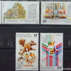 Sellos: INGRESO PORTUGAL Y ESPAÑA EN CEE- 1 SERIE (4 VALORES) - EDIFIL 2825-28 - AÑO 1986 - NUEVO-LUJO. Lote 147606462