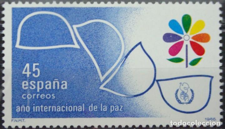 ***AÑO INTERNACIONAL DE LA PAZ*** - 1 SELLO (1 VALOR) - EDIFIL 2844 - AÑO 1986 - NUEVO-LUJO (Sellos - España - Juan Carlos I - Desde 1.975 a 1.985 - Nuevos)