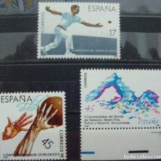 Sellos: ***DEPORTES*** - 3 SELLOS (3 VALORES) - EDIFIL 2850-52 - AÑO 1986 - NUEVO-LUJO. Lote 147694558