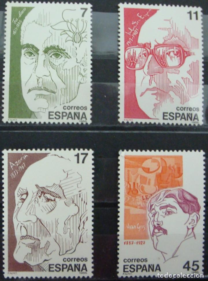 ***PERSONAJES*** - 4 SELLOS (4 VALORES) - EDIFIL 2853-56 - AÑO 1986 - NUEVO-LUJO (Sellos - España - Juan Carlos I - Desde 1.975 a 1.985 - Nuevos)