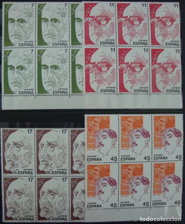 ***PERSONAJES*** - 4 BLOQUES DE 6 SELLOS (4 VALORES) - EDIFIL 2853-56 - AÑO 1986 - NUEVO-LUJO (Stamps - Spain - Juan Carlos I - From 1975 to 1985 - New)