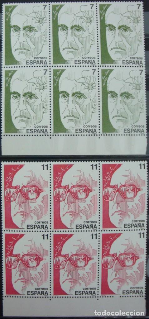 Stamps: ***PERSONAJES*** - 4 BLOQUES DE 6 SELLOS (4 VALORES) - Edifil 2853-56 - AÑO 1986 - NUEVO-LUJO - Foto 2 - 147696518