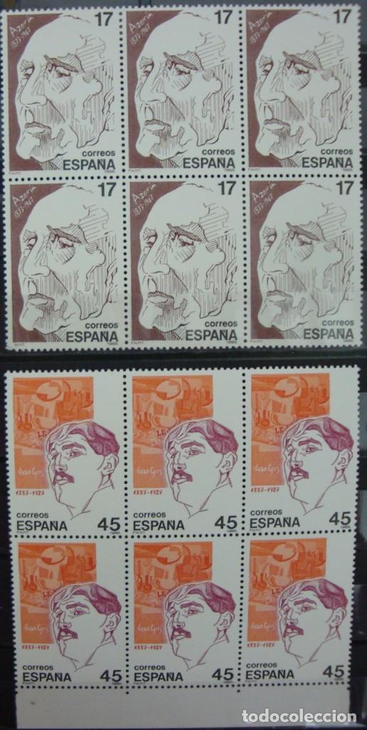 Stamps: ***PERSONAJES*** - 4 BLOQUES DE 6 SELLOS (4 VALORES) - Edifil 2853-56 - AÑO 1986 - NUEVO-LUJO - Foto 3 - 147696518