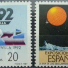 Sellos: ***EXPO´92*** EXPOSICION DE SEVILLA - 2 SELLOS (2 VALORES) - EDIFIL 2875A-76A- AÑO 1987. Lote 147698682