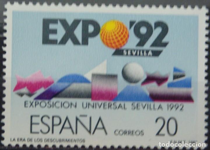 Sellos: ***EXPO´92*** EXPOSICION DE SEVILLA - 2 SELLOS (2 VALORES) - Edifil 2875A-76A- AÑO 1987 - Foto 2 - 147698682