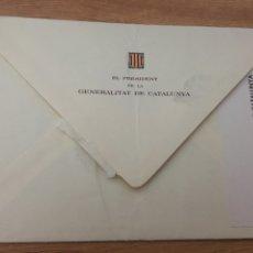 Sellos: SOBRE MEMBRETADO. PRESIDENT GENERALITAT. 1982. INVITACIÓN. Lote 147716558